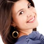 Beautiful woman smiling — Stock Photo #7756298