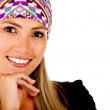 Stock Photo: Woman with headscarf