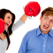 Boxing punch — Stock Photo #7756384