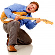 Guitar player - Stock Photo
