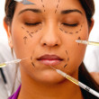 Face lift marks - Stock Photo