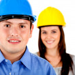 Architects or engineers — Stock Photo