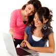 Girls with a laptop — Stock Photo #7756579
