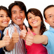 Stock Photo: Friends with thumbs up