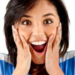Surprised woman — Stock Photo