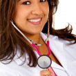 Stock Photo: Doctor with stethoscope