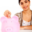 Woman's savings - Stockfoto