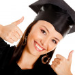 Happy female graduate — Stock Photo #7756724