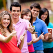 Royalty-Free Stock Photo: Students with thumbs up