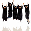 Happy group of graduates — Stock Photo
