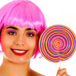 Royalty-Free Stock Photo: Lollipop girl