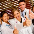 Doctors with thumbs up — Stock Photo #7757086