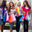 Happy shopping women — Foto Stock