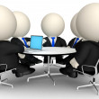 3D Business meeting — Stock Photo