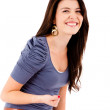 Woman laughing — Stockfoto