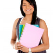 Female student isolated — Stock Photo