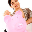 Woman's savings - Stock Photo