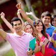 Happy group of students — Foto Stock