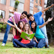 Happy group of students — Stockfoto