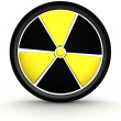 Royalty-Free Stock Photo: 3D nuclear sign