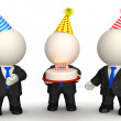 Royalty-Free Stock Photo: 3D birthday celebration