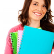 Stock Photo: Female student isolated