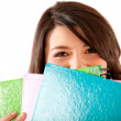 Student with notebooks — Stock Photo #7757600