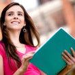Female student outdoors — Stock Photo #7757634