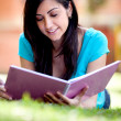 Woman studying outdoors — Stock Photo #7757644