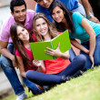 Students outdoors — Stock Photo #7757650