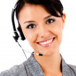 Business woman with headset — Stock Photo #7757660