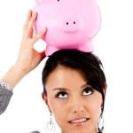 Balancing finances — Stock Photo