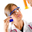 Stock Photo: Female chemist