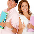 Royalty-Free Stock Photo: Couple of students