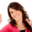 Womwith thumbs up — Stock Photo #7757817
