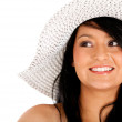 Woman with summer hat — Stock Photo #7757972