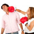 Stock Photo: Couple fighting