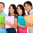Happy group of students — Stock Photo #7758000