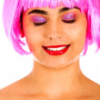 Woman with a wig — Stock Photo