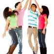 Group high-five - Stock Photo