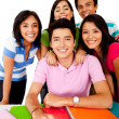 Happy group of students — Stock Photo #7758103