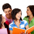 Group of students talking - Stock Photo