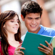 Couple of students - Stock Photo