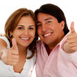 Couple with thumbs up — Stock Photo #7758230