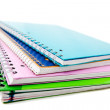 Stock Photo: Pile of notebooks