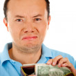 Stock Photo: Bankrupt man