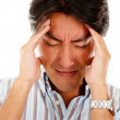 Man with a headache — Stock Photo
