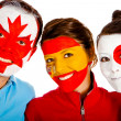 Group of with flags — Stock Photo #7758359