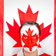 Patriotic Canadian man — Stock Photo