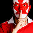 Canadian man asking for silence - Stock Photo